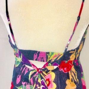 AEO Floral Midi Dress size 4